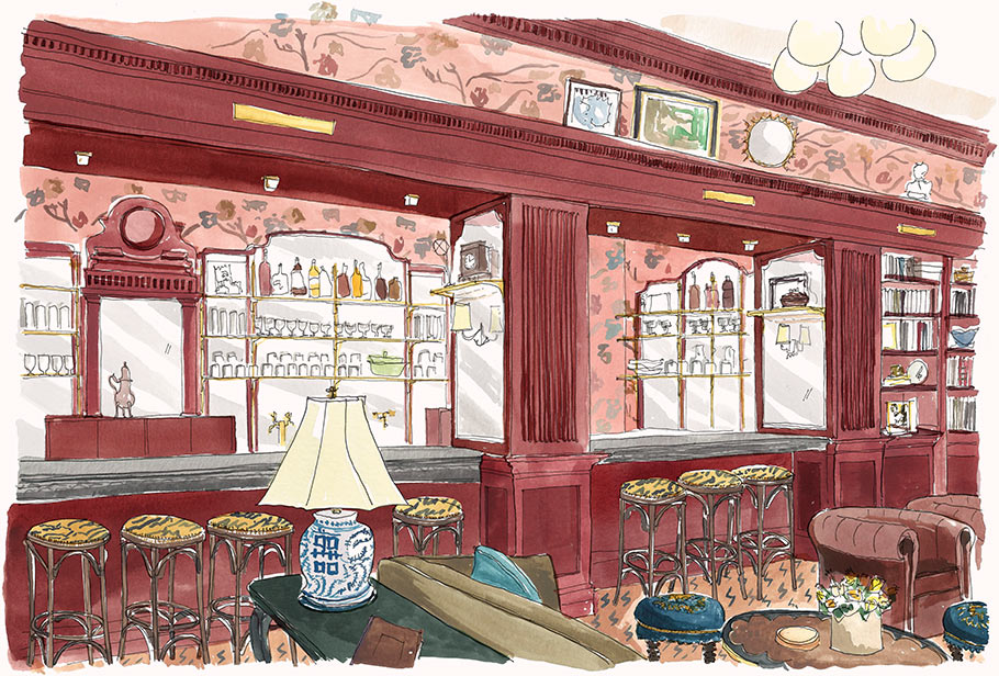 Library Bar illustration