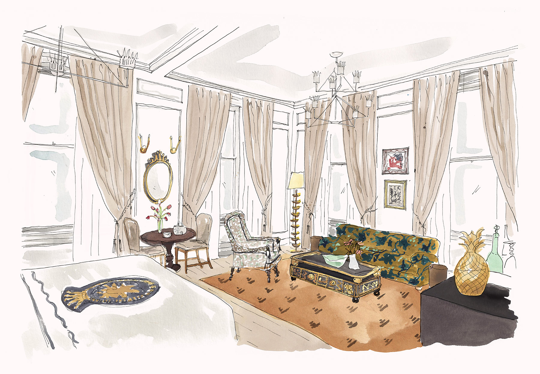 Rendering of the Grand Studio Suite